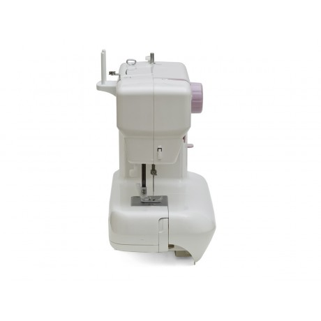Masina de cusut electromecanica Minerva MAX20M, 13 programe, 800 imp/min, 70W, Alb/Mov