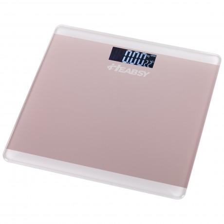 Cantar electronic de persoane Heabsy START-RS, 180 kg, Roz