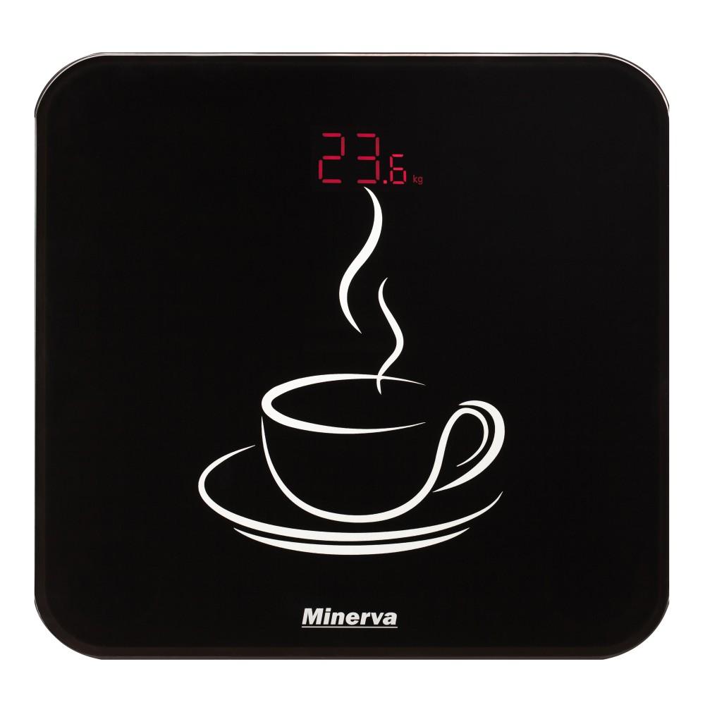 Cantar electronic de persoane Minerva Experience Cupcake B12E, 180 kg, Negru