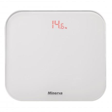 Cantar electronic de persoane Minerva Experience Ultra White B20E, 180 kg, Alb