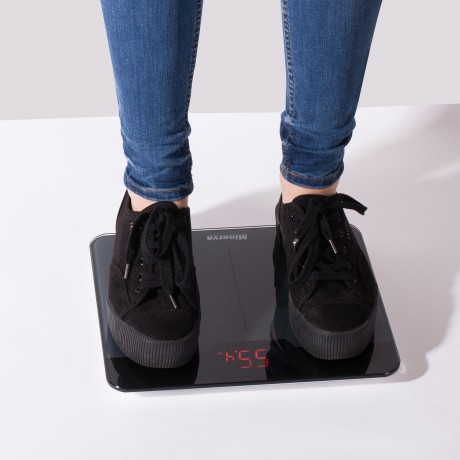 Cantar electronic de persoane Minerva Experience Black Noir B32E, 180 kg, Negru