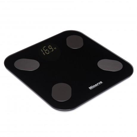 Cantar electronic de persoane Minerva Experience Smart Body SBVFS213, 180 kg, Negru