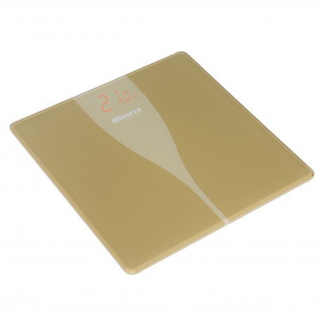 Cantar electronic de persoane Minerva Experience Ultra Gold B31E, 180 kg, Auriu