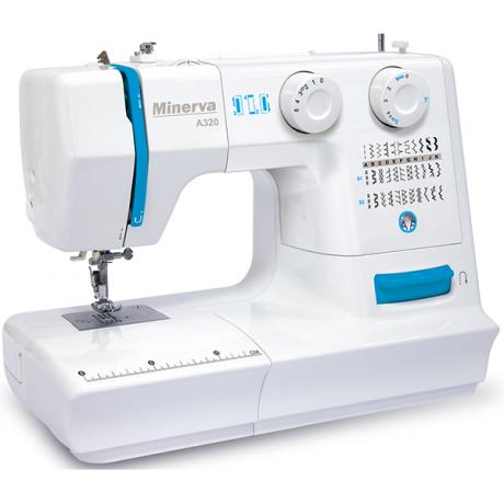 Masina de cusut electromecanica Minerva A320, 32 programe, 800 imp/min, 70W, Alb