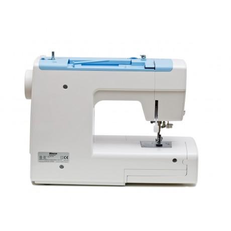 Masina de cusut electromecanica Minerva B21, 21 programe, 800 imp/min, 85W, Alb/Albastru