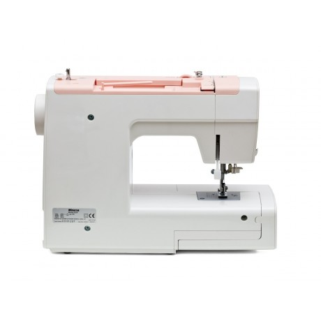 Masina de cusut electromecanica Minerva B29, 29 programe, 800 imp/min, 85W, Alb/Roz