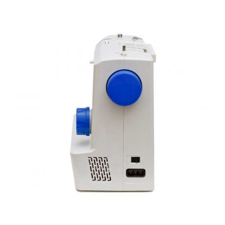 Masina de cusut electromecanica Minerva BLUEHORIZON, 16 programe, 850 imp/min, 70W, Alb/Albastru