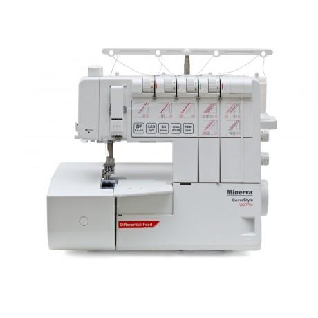 Masina de acoperire Minerva Coverstyle CS1000PRO, 5 tipuri de cusatura, 1200 imp/min, 120W, Alb