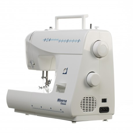 Masina de cusut electromecanica Minerva CLASSIC Model 2020, 12 programe, 800 imp/min, 70W, Alb
