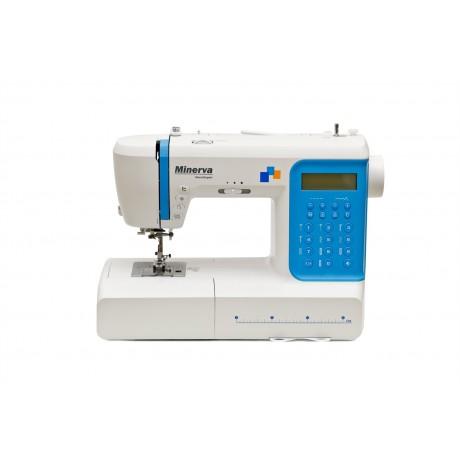 Masina de cusut digitala Minerva DECOREXPERT, 197 programe, 800 imp/min, 70W, Alb/Albastru