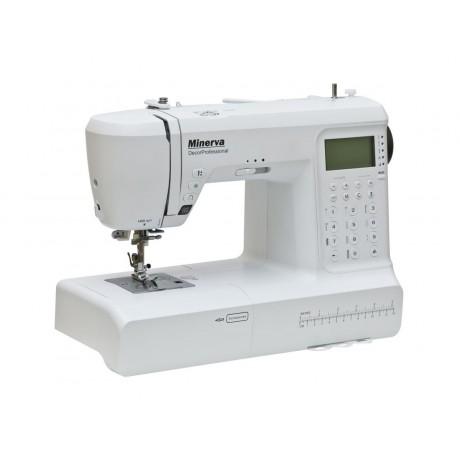 Masina de cusut digitala Minerva DECORPROFESSIONAL, 400 programe, 800 imp/min, 70W, Alb