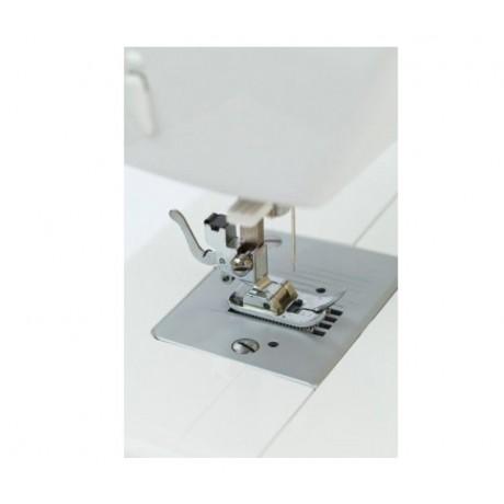 Masina de cusut electromecanica Minerva F230, 23 programe, 800 imp/min, 70W, Alb/Roz