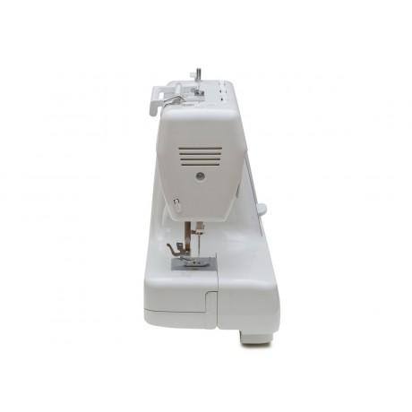 Masina de cusut electromecanica Minerva JPROFESSIONAL, 32 programe, 800 imp/min, 70W, Alb/Bleumarin