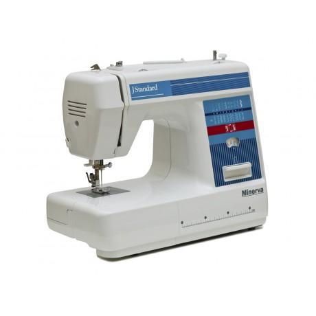 Masina de cusut electromecanica Minerva JSTANDARD, 21 programe, 800 imp/min, 70W, Alb/Albastru