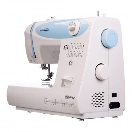Masina de cusut electromecanica Minerva LV730, 20 programe, 850 imp/min, 70W, Alb/Bleu