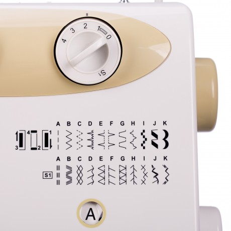Masina de cusut electromecanica Minerva LV750, 23 programe, 850 imp/min, 70W, Alb/Auriu