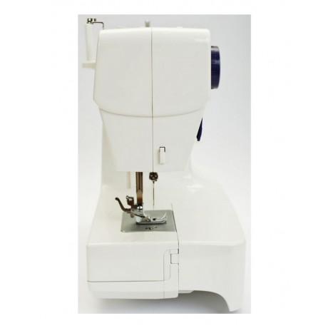 Masina de cusut electromecanica Minerva M10B, 12 programe, 800 imp/min, 85W, Alb/Mov