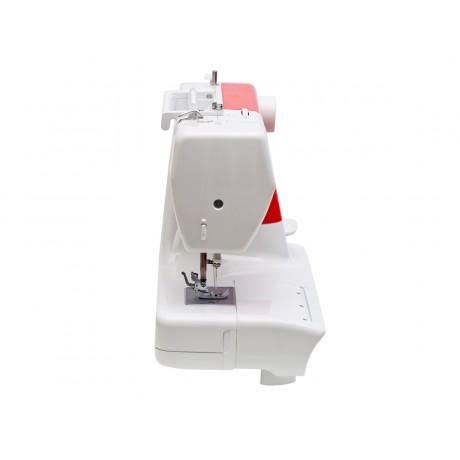 Masina de cusut electromecanica Minerva M190, 21 programe, 800 imp/min, 85W, Alb/Rosu