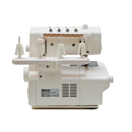 Masina de acoperire Minerva Flatlock M3040, 4 programe, 1300 imp/min, 105W, Alb