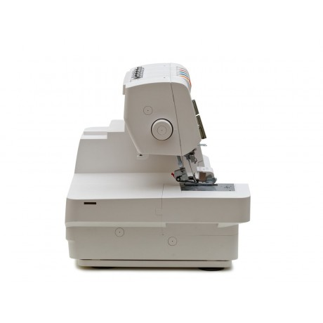 Masina de cusut combinata Minerva Coverlock M5000CL, 24 programe, 1100 imp/min, 120W, Alb