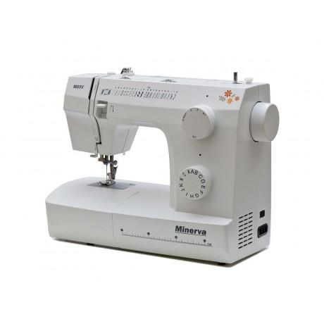 Masina de cusut electromecanica Minerva M85V, 23 programe, 800 imp/min, 70W, Alb