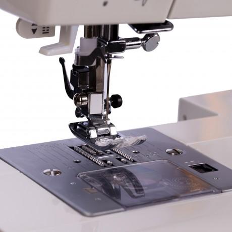 Masina de cusut digitala Minerva MC110PRO, 100 programe, 800 imp/min, 70W, Alb/Roz