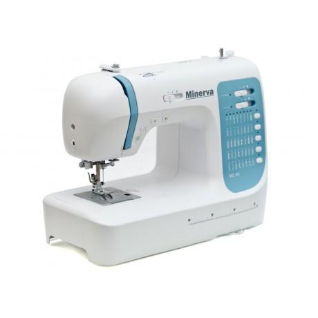 Masina de cusut digitala Minerva MC40,  40 programe, 800 imp/min, 70W, Alb/Bleu