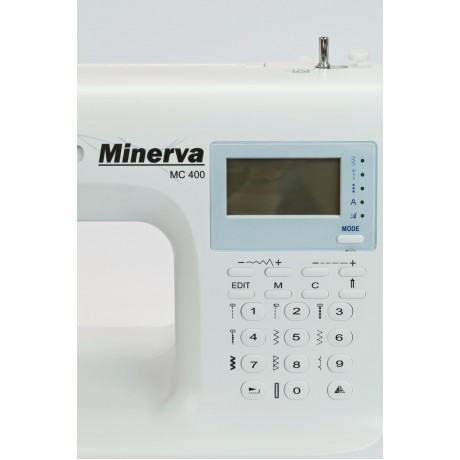 Masina de cusut digitala Minerva MC400, 404 programe, 850 imp/min, 70W, Alb