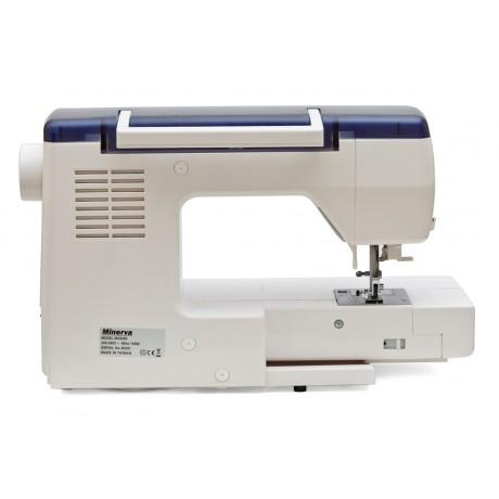 Masina de cusut digitala Minerva MC8300, 536 programe, 800 imp/min, 105W, Alb/Albastru