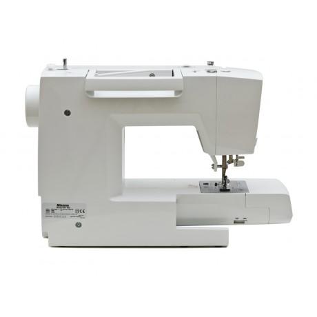 Masina de cusut digitala Minerva MC90C, 90 programe, 800 imp/min, 70W, Alb/Rosu