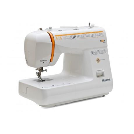 Masina de cusut electromecanica Minerva NEXT363D, 36 programe, 850 imp/min, 70W, Alb/Portocaliu