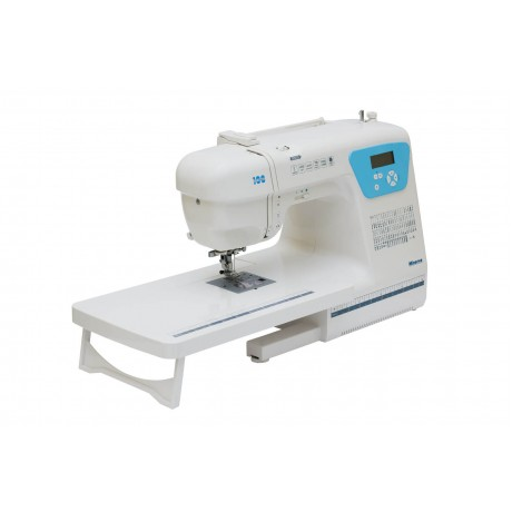 Masina de cusut digitala Minerva PERFORMANCE100, 100 programe, 850 imp/min, 70W, Alb/Bleu