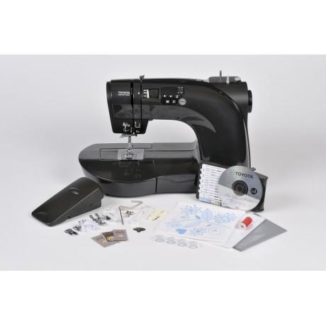 Masina de cusut digitala Toyota OEKAKI50B, 50 programe, 800 imp/min, 50W, Negru