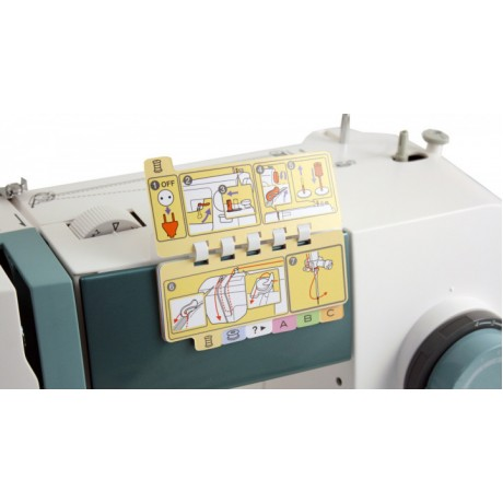 Masina de cusut electromecanica Toyota TSEW2, 23 programe, 800 imp/min, 65W, Alb/Gri