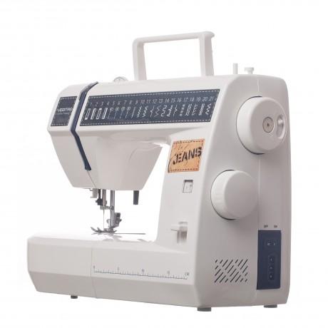 Masina de cusut electromecanica Veritas JSB21, 21 programe, 800 imp/min, 60W, Alb/Albastru