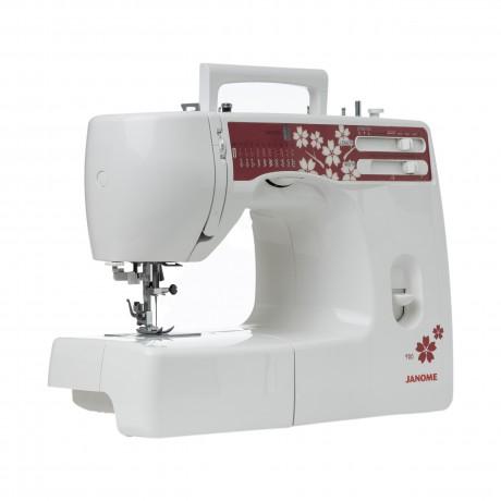 Masina de cusut electromecanica JANOME 920, 20 Programe, 860 Imp/Min, 60W, Alb/Visiniu