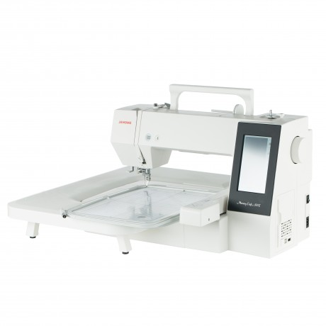 Masina de brodat digitala JANOME Memory Craft 500E, 160 modele incorporate, 860 spm, 55W, Alb/Negru