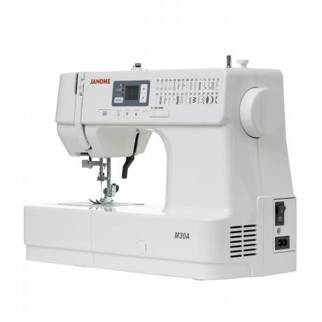 Masina de cusut digitala JANOME M30A, 30 Programe, 820 Imp/Min, 32W, Alb